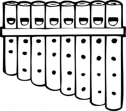 Pan Pipes clip art