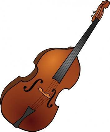 free vector Double Bass clip art