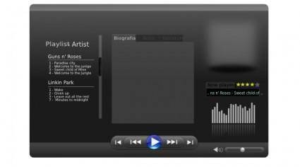 free vector Dark Equalizer Audio clip art