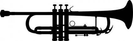 Trumpet Silhouette clip art
