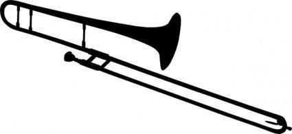 Trombone Silhouette clip art