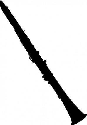 free vector Clarinet Silhouette clip art