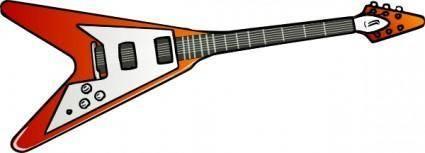 free vector Flying V Guitar clip art