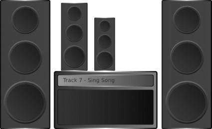 free vector Aquila Hi Fi Stereo clip art