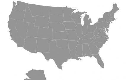 free vector Us Map Vector