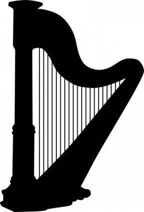 Harp Silhouette clip art