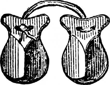 Castanets Music Instrument clip art