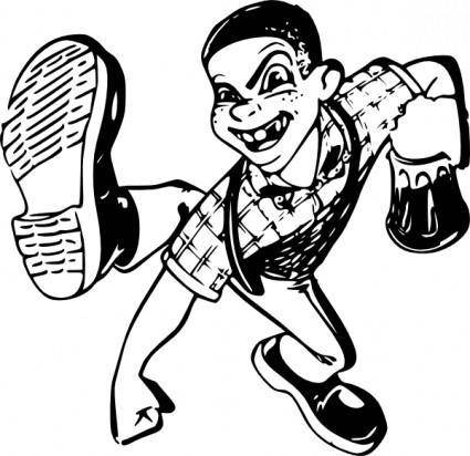 Dancing Boy clip art
