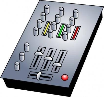 Dj Audio Mixer clip art