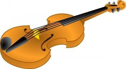 Brown Violin clip art