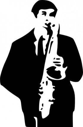 Saxophone Player clip art