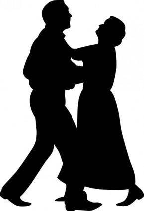 Dancing Couple clip art