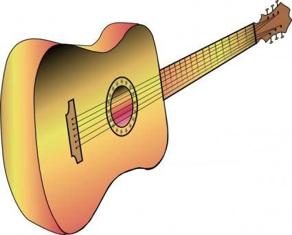 free vector Guitar Profile clip art