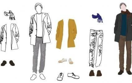 free vector Men's Fashion Vector Art