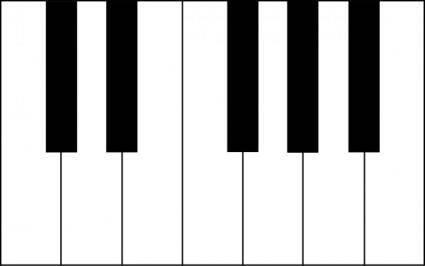 free vector Piano Keys clip art