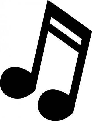 Musical Note 3 clip art