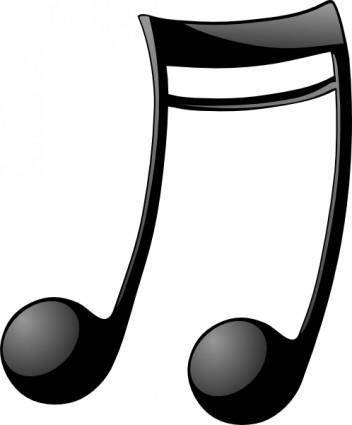 Double_note_two clip art