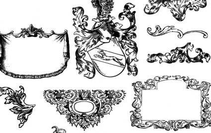 free vector Heraldry and Flourishes