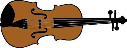 Violin (colour) clip art