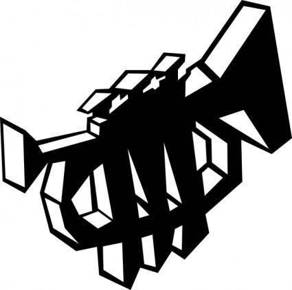 Trumpet Stylized Symbol clip art