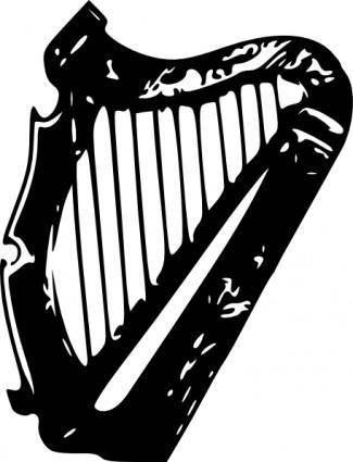 free vector Harp clip art