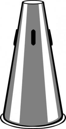 Trumpet Straight Mute clip art