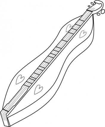 free vector Mountain Dulcimer clip art