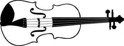 Violin (b And W) clip art