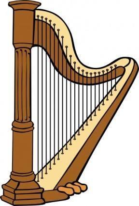 free vector Classical Harp clip art