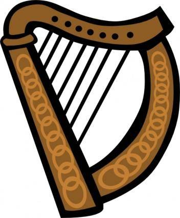 free vector Celtic Harp Simple clip art