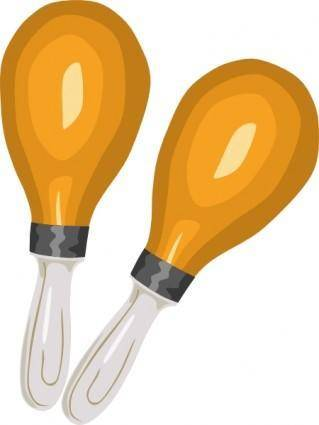 Maracas Rumba Shakers clip art