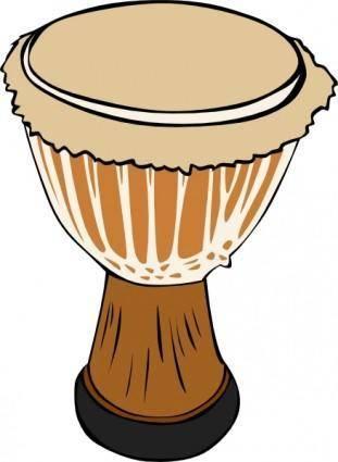 free vector Djambe Drum clip art