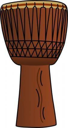 Africandrum3 clip art