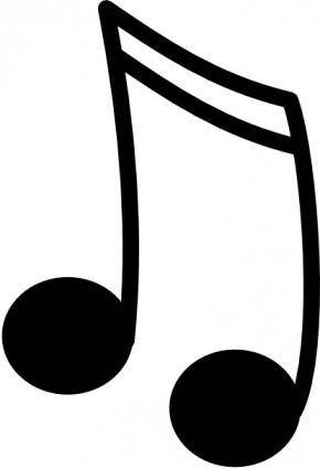 free vector Sixteenth Notes, Joined In A Pair clip art