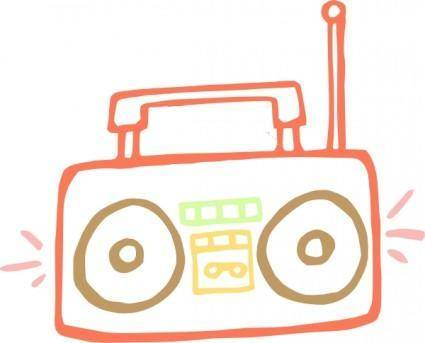 free vector Boombox clip art