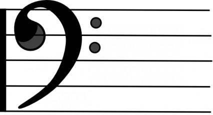 free vector Bass Clef clip art