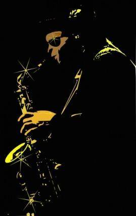 Jazz Music Player clip art