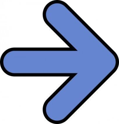 Right Blue Arrow clip art