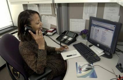 Secretary Answering Phone  clip art