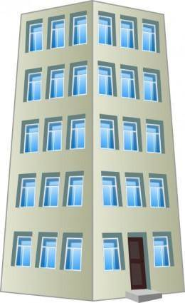 free vector Commercial Industrial Building clip art