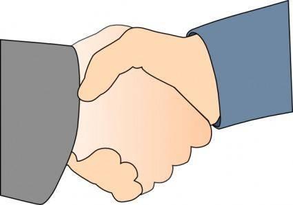 Hands Shake clip art