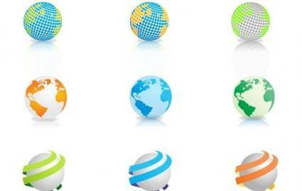 9 Free Vector Globes