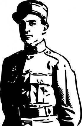 Wwi Officer clip art