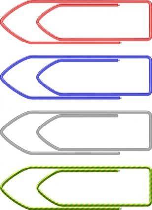 Paper Clips clip art