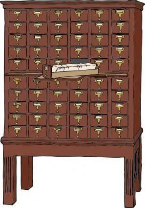 Card Catalog Furniture clip art