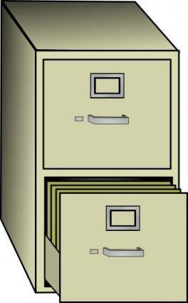 free vector Metal File Cabinet clip art