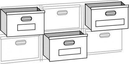 free vector File Cabnet Drawers clip art