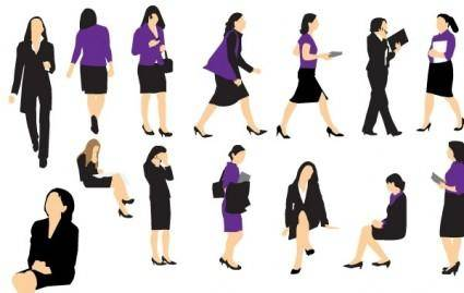 free vector Business Woman Vectors