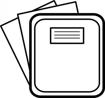free vector Notebook clip art