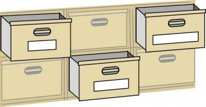 Furniture File Cabinet Drawers clip art